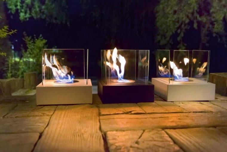 Biokominki TANGO 3, stal i szkło, 30 x 30 cm, wys. 30,3 cm, 250 zł/szt., kratki.pl