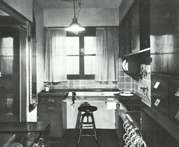 Kuchnia frankfurcka, zdjęcie archiwalne z 1926
