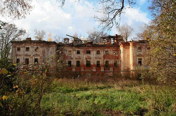Rząśnik - barokowy pałac von Holtzhausena wg projektu M. Frantza z 1734 r.