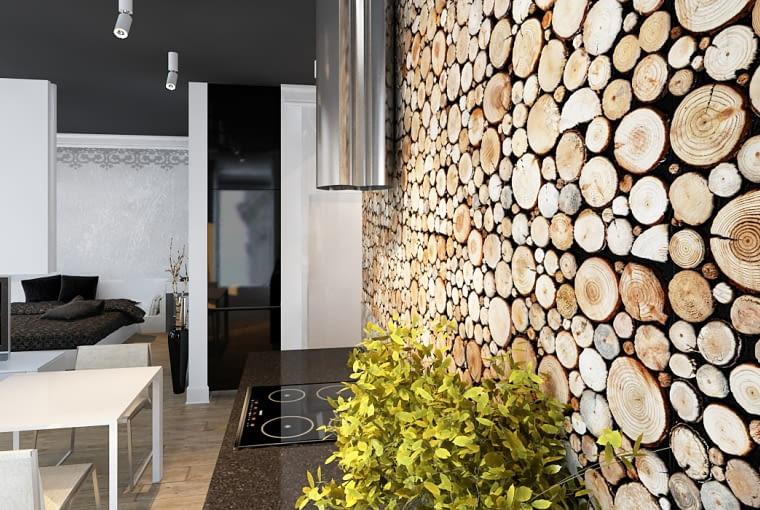 Drewno na ścianie