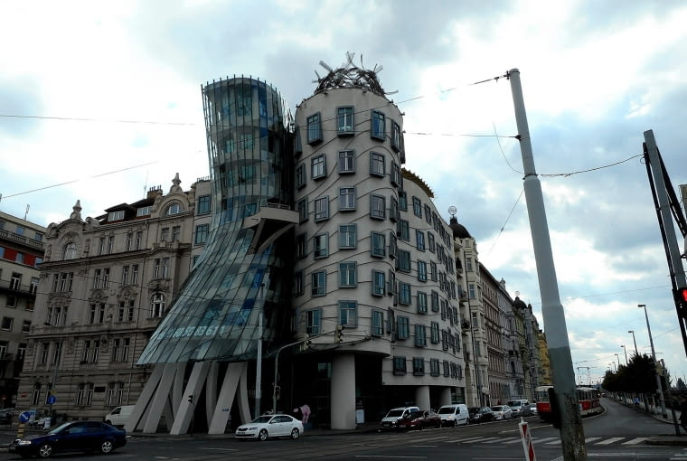 Tańczący dom w Pradze.