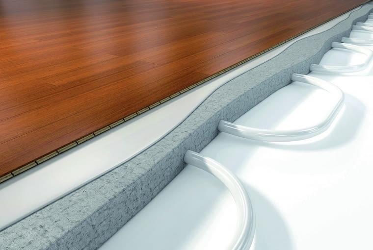 deski warstwowe, ogrzewanie podłogowe