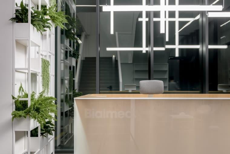 Siedziba firmy Bialmed w Piszu. Proj. 3XA