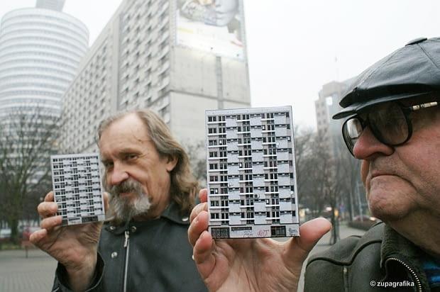 Zupagrafika, warszawskie bloki, wycinanki, rotunda, blok wschodni