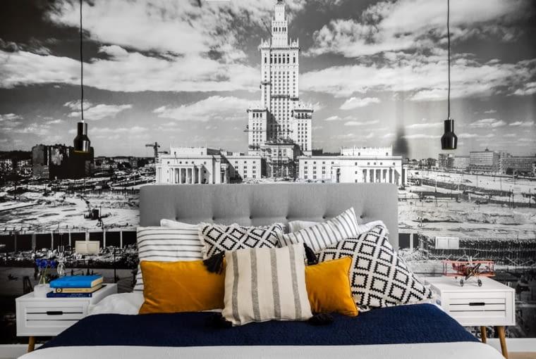 Wystrój wnętrz, aranżacja wnętrz, mieszkanie w Warszawie, sypialnia