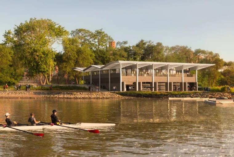 Przystań rzeką Harlem w Nowym Jorku. Proj. Foster + Partners