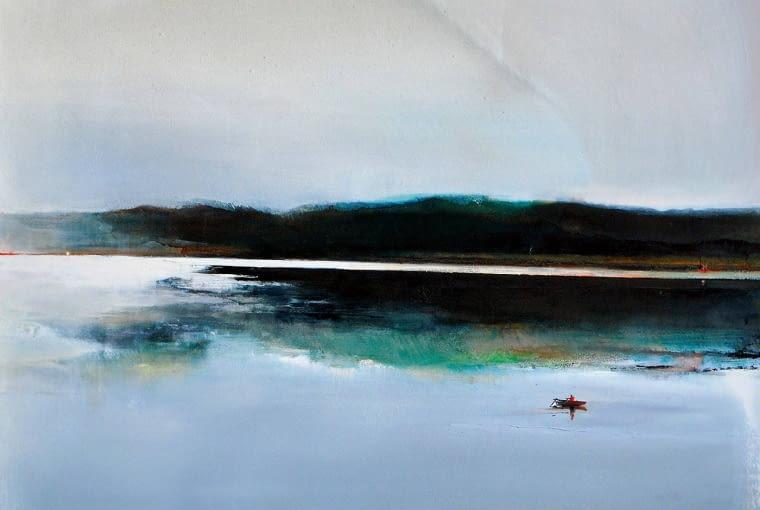 Barbara Hubert, Zatoka W, olej na płótnie, 130 x 100 cm, cena 4500 zł