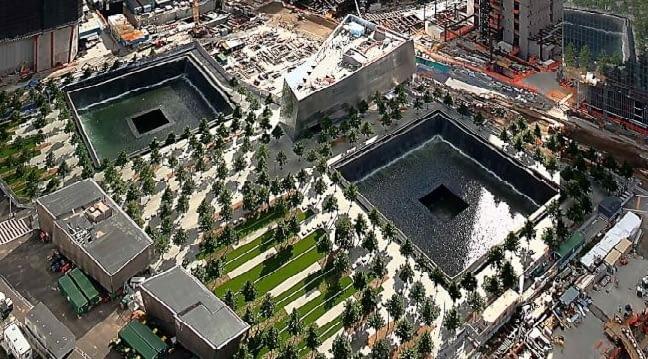 Memoriał września 11 września 2001 autorstwa Daniela Libeskinda, Nowy Jork