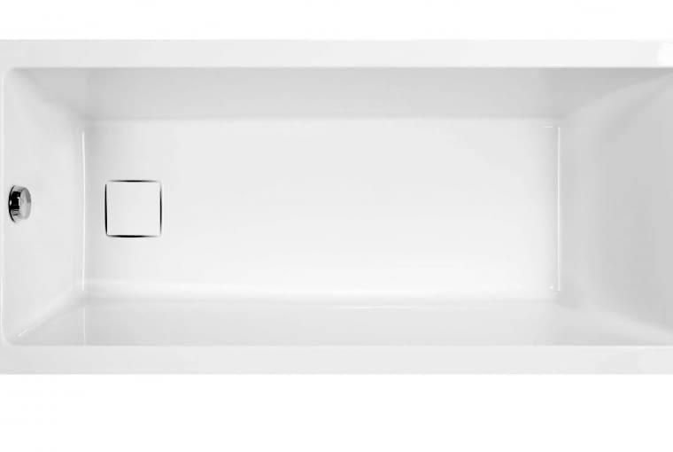 Space Line/SANPLAST. Z odpływem w dolnej części, z akrylu sanitarnego, kompletowana z adapterem z pokrywką; optymalna głębokość oraz kąt pochylenia oparć sprawiają, że wanna gwarantuje komfort również dwóm osobom; wymiary: 75 x 170 cm. Cena: od 1472 zł, www.sanplast.pl
