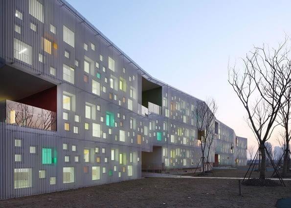 Przedszkole Xiayu, Jiading New Town, Szanghaj, proj. Atelier Deshaus, 2010