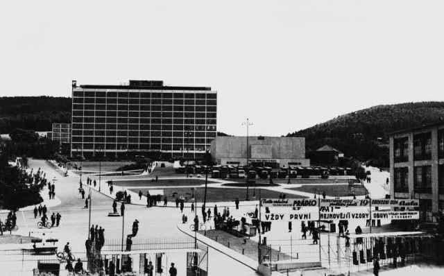 zlin, modernizm, miasto, czechy