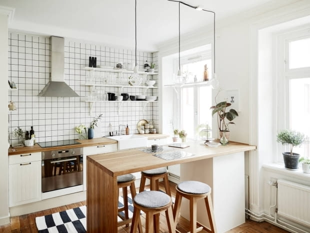 mieszkanie w skandynawskim stylu, skandynawkie mieszkanie, dwupokojowe mieszkanie