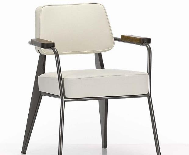 Krzesło Fauteuil Direction (1951), proj Jean Prouve