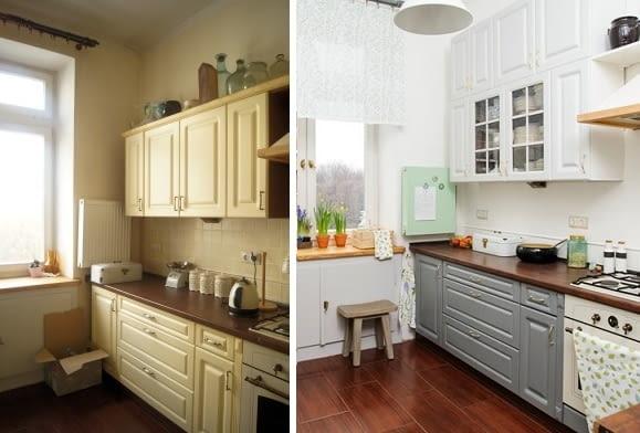malowanie szafek kuchennych, aranżacja kuchni