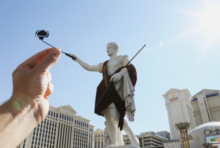 Selfie Cezara, Caesar's Palace, Las Vegas, USA