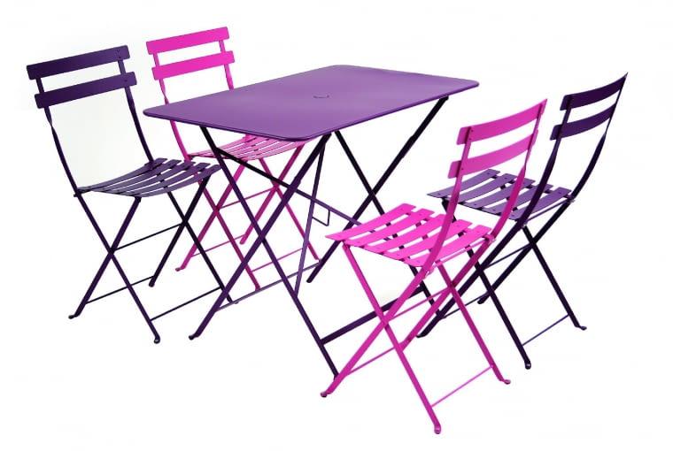 JANVIER BISTRO, metal, stolik (97 x 57 cm), 4 krzesła 2045 zł Fermob