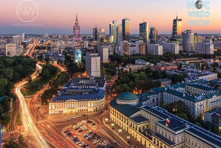 Centrum wyłaniające się znad placu Bankowego :)