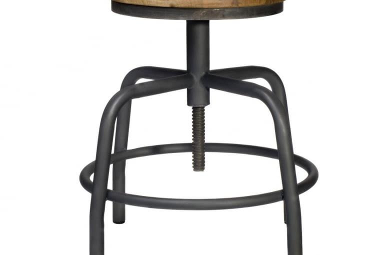 W stylu tego wnętrza: Stołek industrialny Spider, 649 zł, nshome.pl
