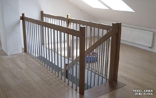 barierka, schody na poddasze