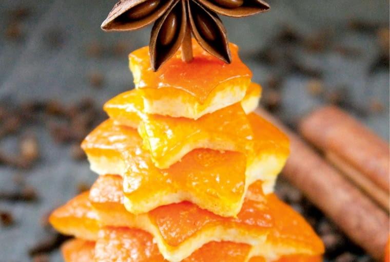 Orange peel Christmas decoration