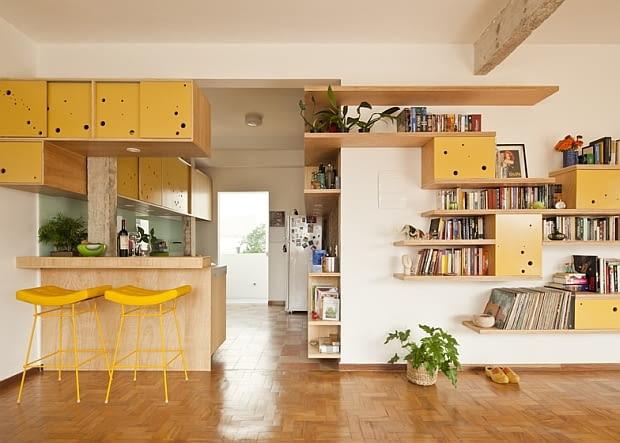 nowoczesne mieszkanie, loft, przebudowa mieszkania, oryginalne mieszkanie, mieszkanie dla młodych