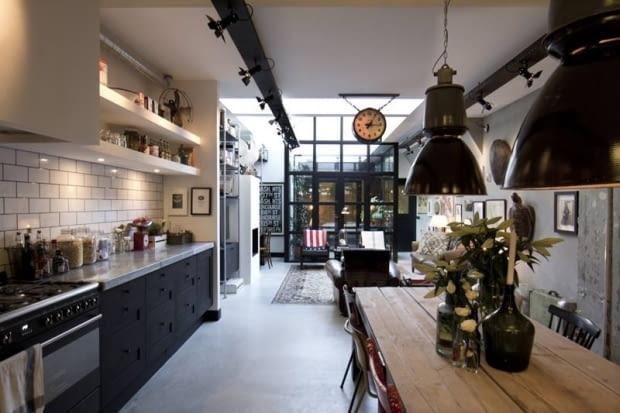 mieszkanie, loft, mieszkanie w industrailnym stylu