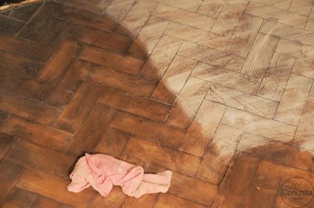 malowanie podłóg, podłogi, białe podłogi