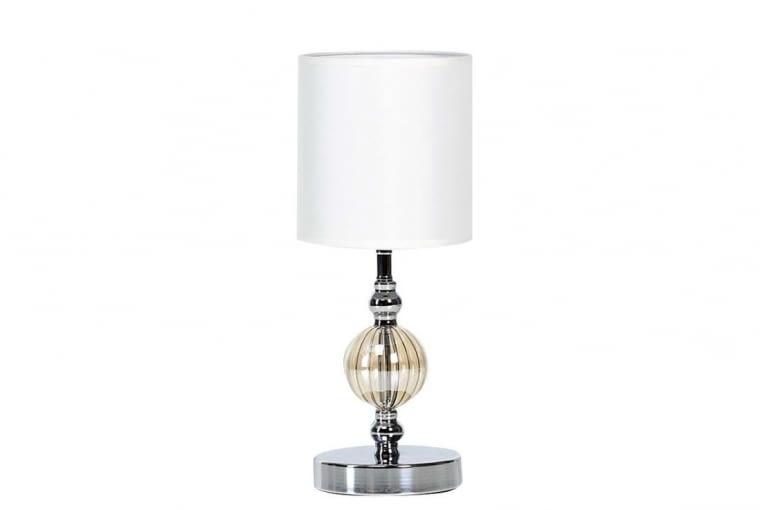 W stronę klasyki: Lampka, szkło, metal i tkanina 69 zł Forte