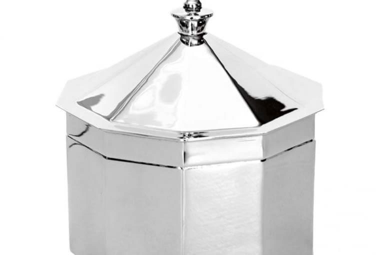 W stylu tego wnętrza: Pojemnik, metal, wys. 19 cm, 216 zł, sklep-kaprys.pl