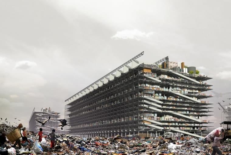 Projekt dyplomowy pt. Porozmawiajmy o śmieciach dotyczący slumsów w Bombaju