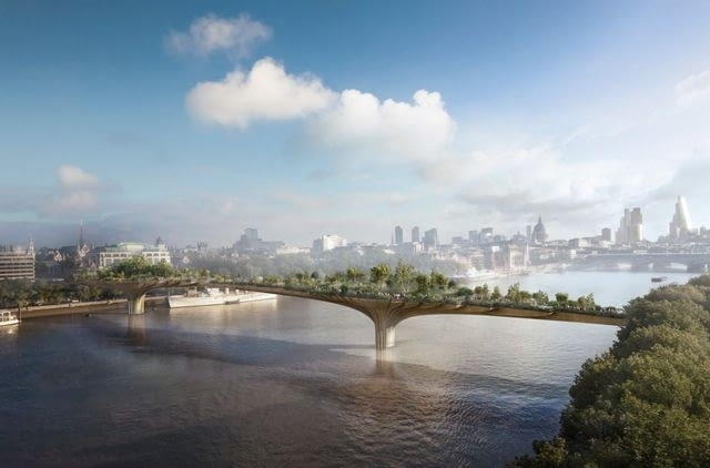 Park na moście, proj. Thomas Heatherwick
