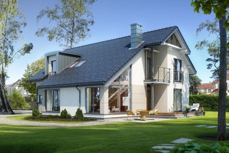 dom nowoczesny, projekt gotowy