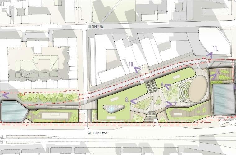 Inwestycja Centralna Park ma powstać u zbiegu Al. Jerozolimskich i al. Jana Pawła II