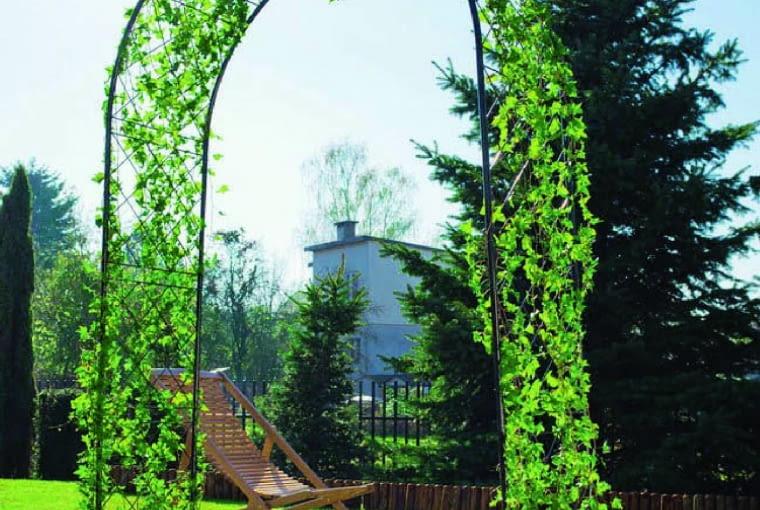 Konstrukcje pokryte roślinami pozwalają uatrakcyjnić ogród lub wyeksponować jego fragment. Bramka dekoracyjna Blooma, 168 zł