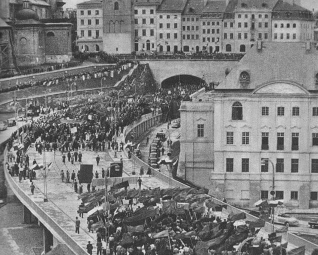Otwarcie trasy W-Z w Warszawie - 22 lipca 1949