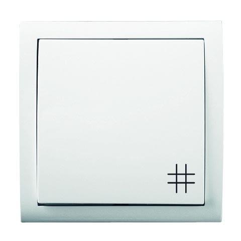 Przełącznik krzyżowy oznaczony jest zawsze piktogramem krzyżyka