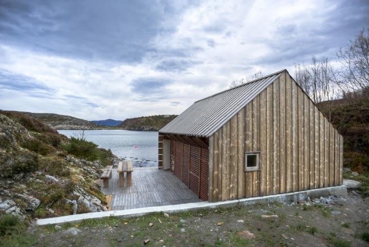 architektura światowa, przystań rybacka, Norwegia, rewitalizacja, przebudowa, drewno