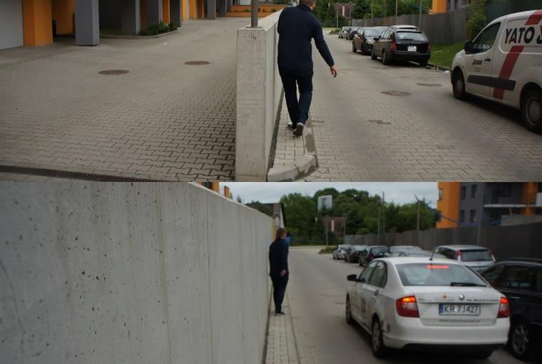 Taka konsekwencja w Krakowie zdarza się rzadko. Co widać np. po tym, na jakie kolory malujemy wielką płytę. Sama inwestycja na Polonijnej została zresztą przygotowana tak, że sprzyja wygodnym spacerom - także z wózkiem - albowiem pomyślano tam przede wszystkim o pieszych. Nie dość, że powstał chodnik, to dodatkowo dzięki znakowi 'zakaz zatrzymywania' w pełni należy on do spacerowiczów.