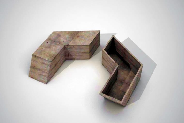 Ławki z betonu architektonicznego