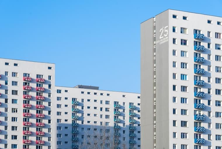Termomodernizacja bloków na osiedlu Bolesława Chrobrego w Poznaniu, projekt: Ultra Architects