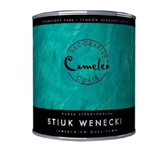 Farba strukturalna Stiuk wenecki firmy CAMELEO; efekt: antyczna technika tynkowania; kolor: barwienie według wzornika kolorów; cena: od 30,69 zł/kg