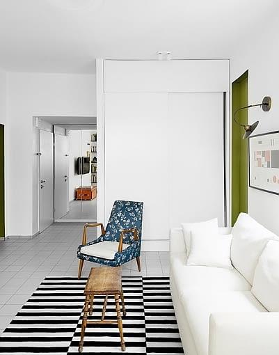 mieszkanie, jasne mieszkanie, małe mieszkanie, Tel Awiw