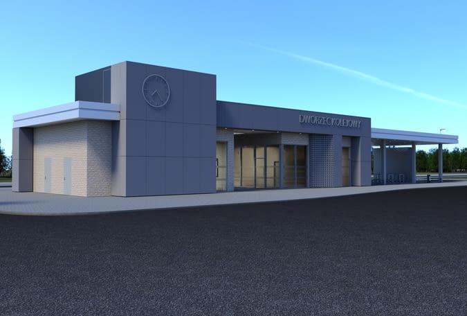 Wizualizacja nowego dworca systemowego w Strzelcach Krajeńskich