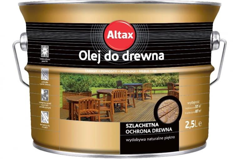Olej do drewna/AltaX | mieszanka olejów naturalnych, w tym tungowego. Cena: 59,28 zł/1l