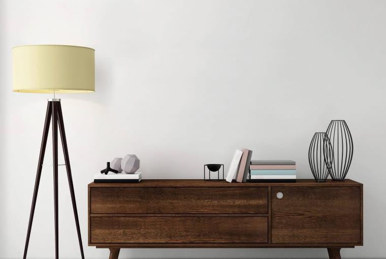LAMPA NA TRÓJNOGU - ważny dodatek. Idealny byłby model połączony ze stolikiem kawowym.