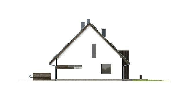 projekty domów, elewacja