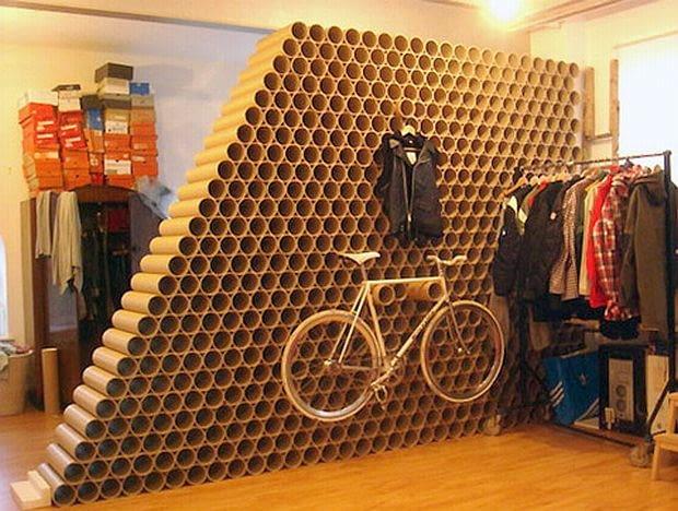 recykling, ścianka