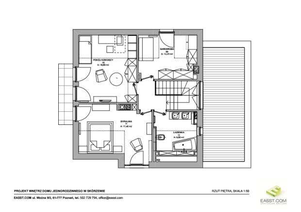 plan domu, plan wnętrza