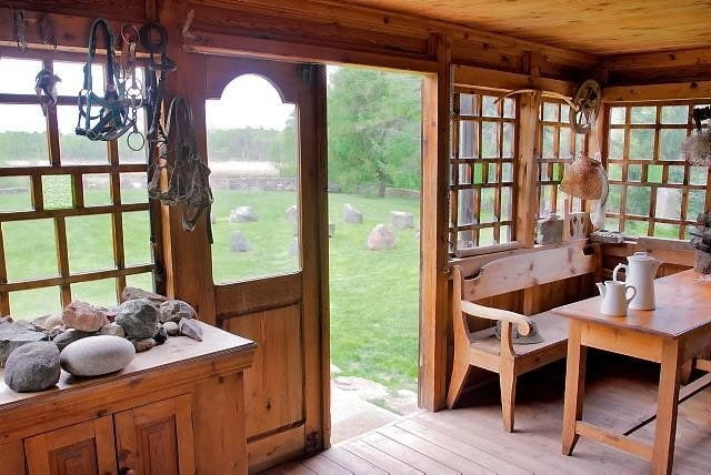 dom drewniany,dom z bali,ganek