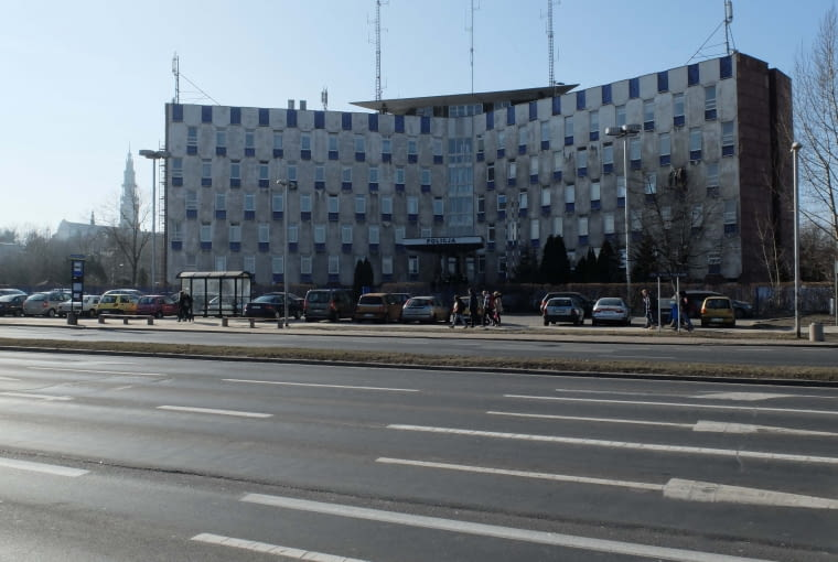 Budynek komendy policji w Częstochowie